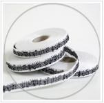 Webband Noten weiß-schwarz acufactum 1 cm breit