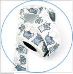 Webband Teekannen weiß-blau acufactum 3 cm breit