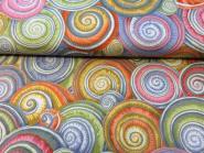"""Patchworkstoff, """"Spiral Shells"""" Schneckenhäuser, Philip Jacobs for Rowan, PWPJ073-GREYX"""