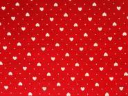 Weiße/Cremefarbene Herzen auf hellem Hintergrund mit Minipunkten dazwischen