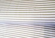 Jersey, mit braun, taupe-weiß gestreift
