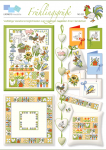 Frühlingsgrüße, süße Blumen-/und Tiermotive in frischem Design für kleine und große Stickarbeiten