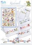 Kinderwelt, niedliche Motive für Kinder, mit ABC in frischem Design für kleine und große Stickarbeiten