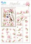 Magnolien, traumhafte Blüten und Zweige in frischem Design für kleine und große Stickarbeiten