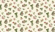 Patchworkstoff, Zweige, Beeren, Misteln, Metallic Christmas Foliage, 1666,Makower uk