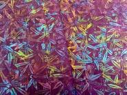 Patchworkstoff, Batik, Islandbatik, lila + color