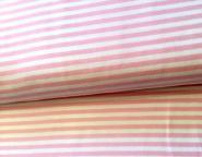 Jersey, weiß-rosa gestreift