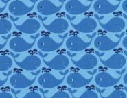 Westfalenstoff, Junge Linie, blaue Wale auf blau,Wal, 0010508090