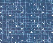 Westfalenstoff Klassiker, Hähnchen blau weiß  001050160