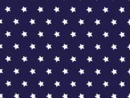 Westfalenstoffe, weiße Sterne auf blau/marine/dunkelblau, 010506230 - Capri