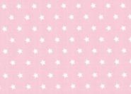 Westfalenstoffe, weiße Sterne auf rosa, 010506235 - Capri