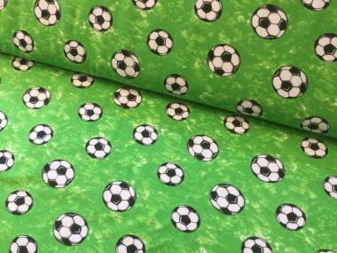 Jersey, Fußball, Fussbälle auf grün