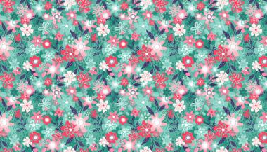 Patchworkstoff, Fruity floral blue, 1945  B,makower