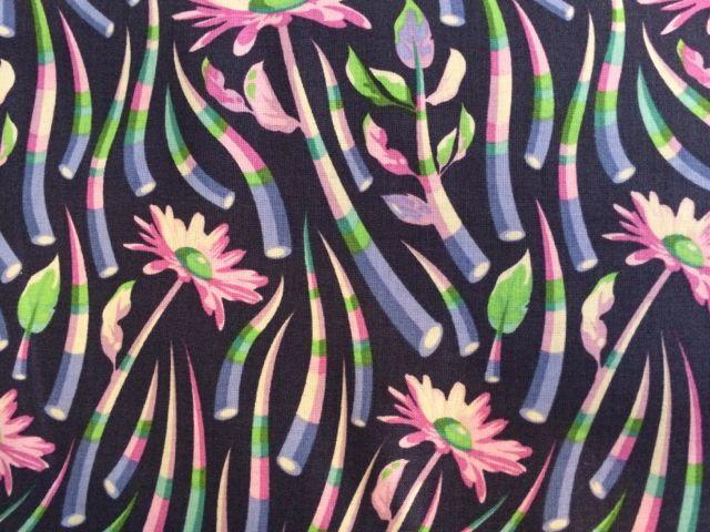 ANGEBOT: Patchworkstoff, Free Spirit, Blumen und Blätter in lila, blau, grün, rosa, Tula Pink, Acacia