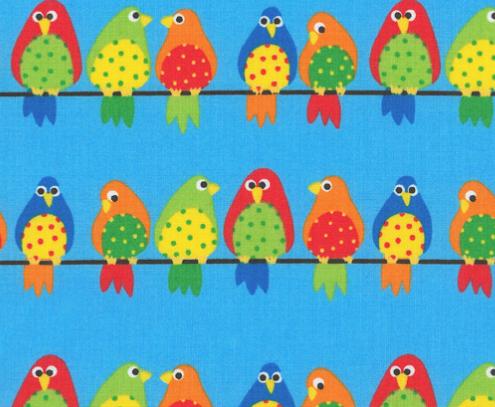 Westfalenstoff, Junge Linie, bunte Vögel, Papageien, 0010508091