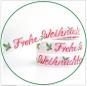 Webband Frohe Weihnachten acufactum   2 cm breit