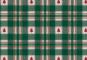 Westfalenstoffe, Webstoff. Trondheim grün-weiß-rot kariert/W48007100