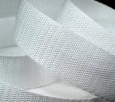 4 Meter Gurtband 2,5cm / 25mm breit Farbe weiss