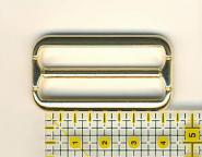 Schnalle / Verstellschnalle 4 cm Messing in eleganter Optik