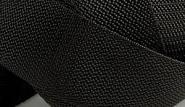 4 Meter Gurtband 2 cm Schwarz Polypropylen