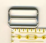 Schnalle 3 cm / 30 mm Nickel matt