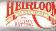 Hobbs Bonded Fibers - Hobbs Heirloom Cotton Queen Size Vlies Natural