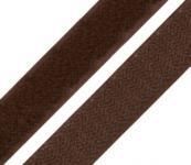 1 Meter Klettverschlussband 2cm breit, Klettband dunkel braun