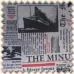Dekostoff Zeitung Titanic