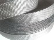 4 Meter Gurtband 3 cm / 30 mm breit silber-grau