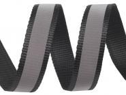 4 Meter schwarzes Gurtband Reflektionsband 2,5 cm / 25 mm breit