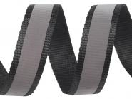 4 Meter schwarzes Gurtband Reflektionsband 3 cm / 30 mm breit