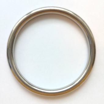 Edelstahl Rundring Silber glänzend 50mm verschweißt