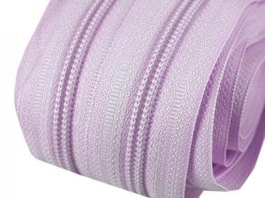 5m Endlos-Reißverschluss hell violett / lila 5mm incl. 10 Zipper