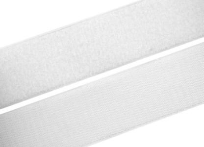 1 Meter Klettverschlussband 50mm breit, weiß