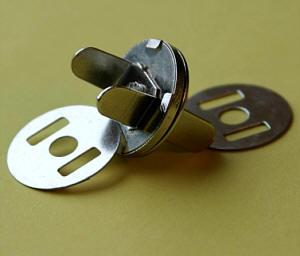 5er Set Magnetverschluss - Nickel glänzend 18 mm
