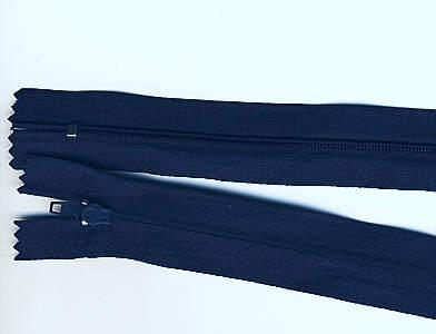 Reißverschluss dunkel-blau, 3mm, 30cm