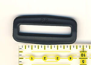 4 Schnallen 4 cm / 40 mm Kunststoff schwarz