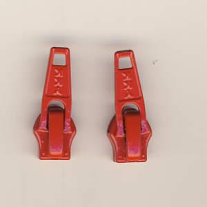 Reissverschluss Schieber rot für 5mm YKK