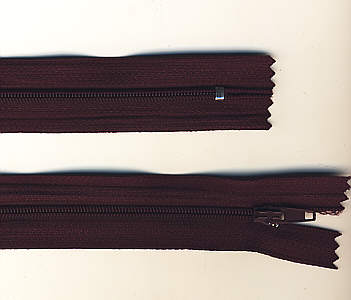 Reißverschluss bordeaux, 3mm, 12cm