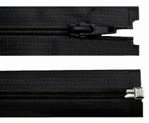 Reißverschluss schwarz, 3mm, 60cm