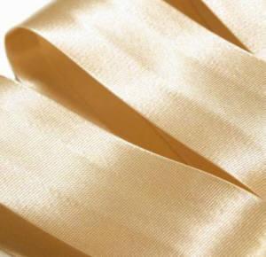 Schrägband Satin uni beige 25 mm