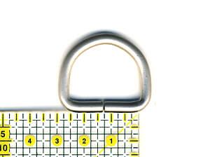 D-Ring Nickel matt 2,5 cm