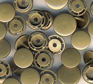 Snaps T5 Druckknöpfe B 11 Gold matt 25 Sets