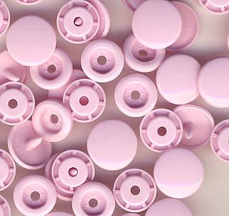 Snaps T5 Druckknöpfe B18 Hell-Rosa 50 Sets