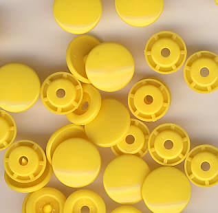 Snaps T5 Druckknöpfe B20 Gelb 50 Sets