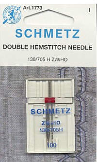 Hohlsaum Doppelnadel Schmetz Stärke 130/705