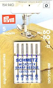 Euro-Notions - Microtex Nadeln Schmetz Stärke 60-80
