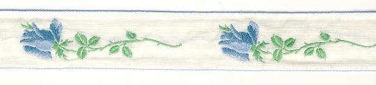 Borte gewebt Rosen 2,5cm breit - 5 Meter