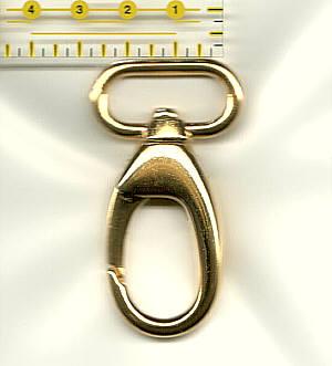 Karabinerhaken 2,5 cm / 25 mm Gold glänzend