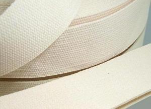 4 Meter Gurtband 3 cm / 30 mm Baumwolle Farbe Natur